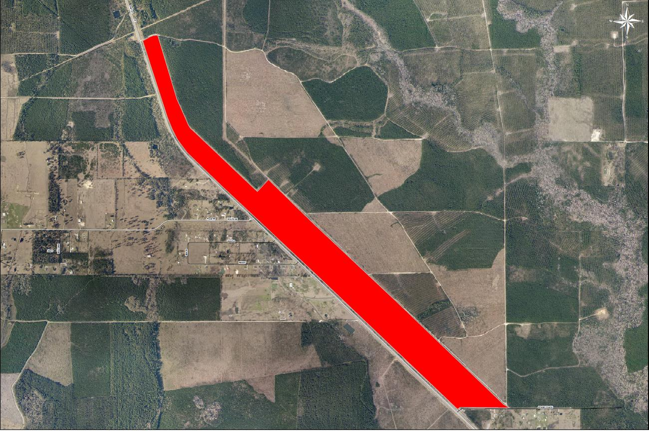 281 Acres with 2.7 miles of rail frontage